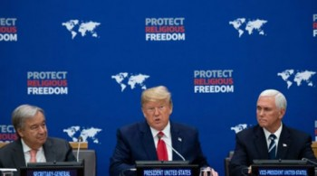 Trump takes first UN stand to stop religious persecution